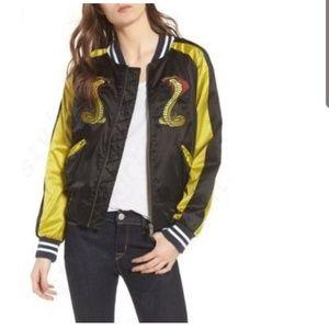 Hudson Snakes Embroidered Bombered Jacket